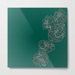 Emerald Singular Blossom Metal Print