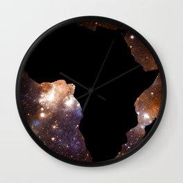 Galaxy Africa Blue Copper Wall Clock