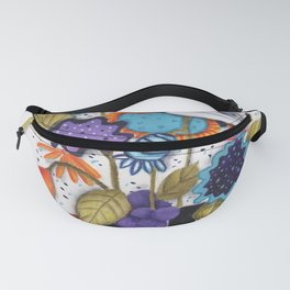Chickadee Garden Floral Fanny Pack