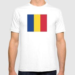 Flag of romania 3 -romania,romanian,balkan,bucharest,danube,romani,romana,bucuresti T-shirt