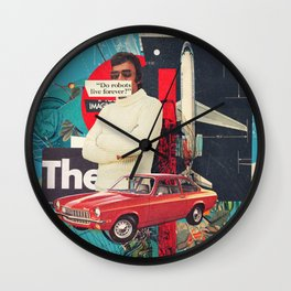 Do Robots live Forever Wall Clock
