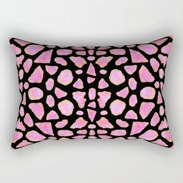 Pink Agate Shards Rectangular Pillow