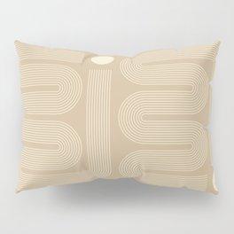 Geometric Lines in Beige 8 Pillow Sham