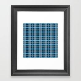 AFE Blue Plaid Pattern Framed Art Print
