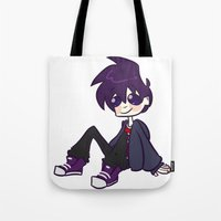 randy c Tote Bags featuring randy boy by nubbybub