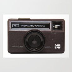 Instamatic Camera 2 Art Print