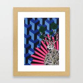 Green Roses Framed Art Print