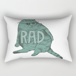 Rad Cat Rectangular Pillow