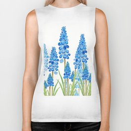 blue grape  hyacinth forest Biker Tank