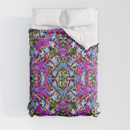 Multicolored Abstract Collage Pattern Comforters