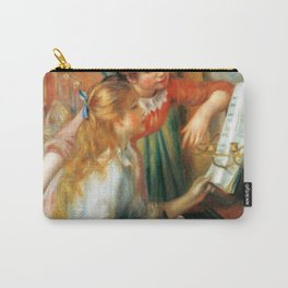 Auguste Renoir Young Girls at the Piano Carry-All Pouch