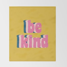 Be Kind Inspirational Anti-Bullying Typography Throw Blanket