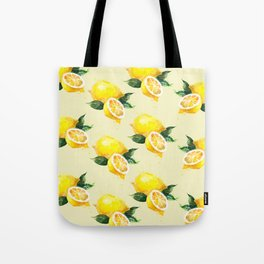 Lemon Pattern in Watercolour Tote Bag