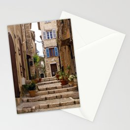Blue Window in the streets of Saint Paul de Vence France Stationery Cards