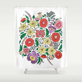 Hungarian embroidery motifs Shower Curtain
