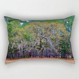 Pine Tree Landscape Rectangular Pillow