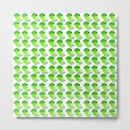Broccoli green pattern Metal Print