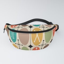 Atomic Era Ovals In Rows Colorful Fanny Pack