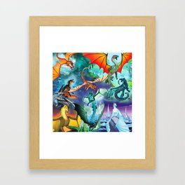 Wings Of Fire Character Framed Art Print