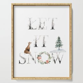 Let It Snow Serving Tray