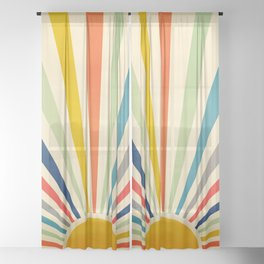 Sun Retro Art III Sheer Curtain