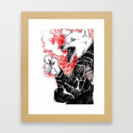 smoke wolf Framed Art Print