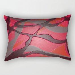 Retro Pop Art Abstract Red Gloss Rectangular Pillow