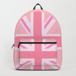 Pink Union Jack/Flag Design Backpack
