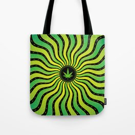 Marijuana energy | Sacred geometry mandala Tote Bag