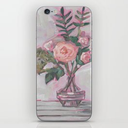 Pops of Hot Pink Florals iPhone Skin