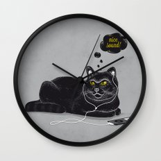 Chilling Cat Wall Clock