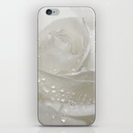 Rose white 0115 iPhone Skin