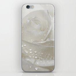 Rose white 0115 iPhone Skin