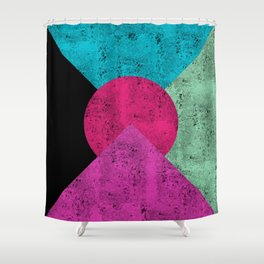Colorful Abstract Geometric Background Shower Curtain