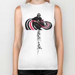 Color Bars  ( Elliott Smith ) Biker Tank