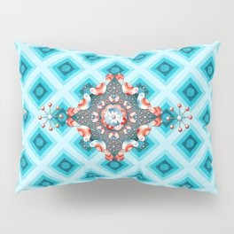 Folkloric Lovebirds Ombre Pillow Sham