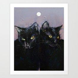 Gothic Cats Kunstdrucke
