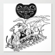 Steam Powered Bicycle Canvas Print