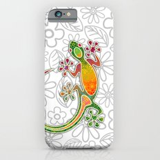 Gecko Floral Tribal Art Slim Case iPhone 6