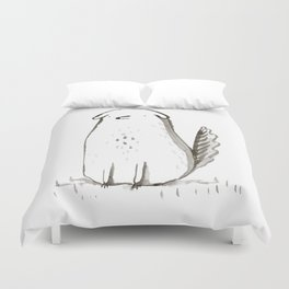 Sitting Dog Duvet Cover