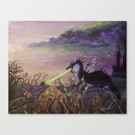 Maleficent's Wrath Canvas Print
