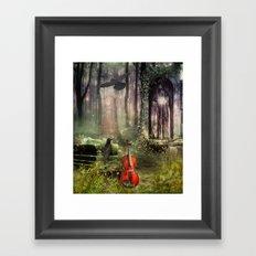 last song Framed Art Print
