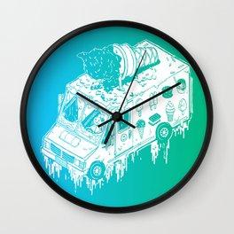 Melty Ice Cream Truck - Mint Wall Clock