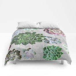Simple succulents Comforters