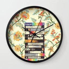 VHS & Entry Hall Wallpaper Wall Clock