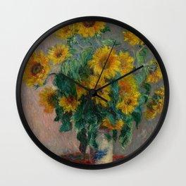 Claude Monet - Bouquet of Sunflowers (1881) Wall Clock