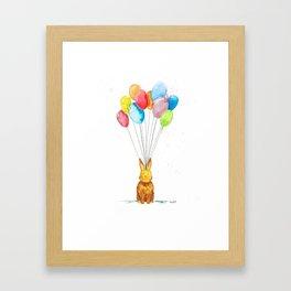 Happy Bunny Framed Art Print