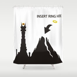 Lord of the Ring Intructions Shower Curtain
