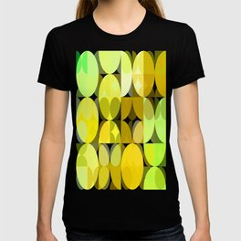 Pale Yellow Poinsettia 1 Abstract Circles 3 T-shirt