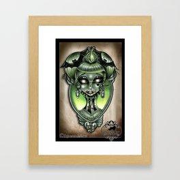 Vampire doll pin up tattoo  Framed Art Print